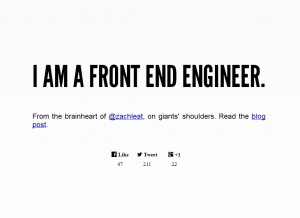 I AM A FRONT END ENGINEER